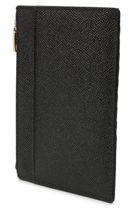 Женский кожаный футляр для кредитных карт DOLCE & GABBANA черного цвета, арт. BI1390/AU771 | Фото 2