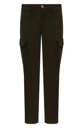 Женские хлопковые брюки 7 FOR ALL MANKIND зеленого цвета, арт. JSL3X190AY | Фото 1