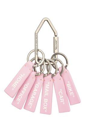 Женский брелок OFF-WHITE розового цвета, арт. 0WNF004E20LEA0013000 | Фото 1