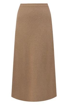 Женская кашемировая юбка LORO PIANA бежевого цвета, арт. FAI8078 | Фото 1