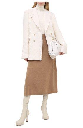 Женская кашемировая юбка LORO PIANA бежевого цвета, арт. FAI8078 | Фото 2
