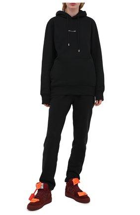 Женские комбинированные кеды suede 3.0 OFF-WHITE бордового цвета, арт. 0WIA112E20LEA0012800 | Фото 2