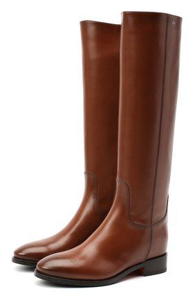 Женские кожаные сапоги SANTONI коричневого цвета, арт. WSNH58900BJ2NBCKC50 | Фото 1