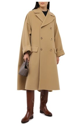 Женские кожаные сапоги SANTONI коричневого цвета, арт. WSNH58900BJ2NBCKC50 | Фото 2