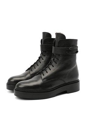 Женские кожаные ботинки SANTONI черного цвета, арт. WTHW59047SM0A0TDN01 | Фото 1