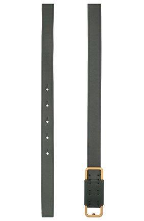Женский кожаный ремень LORO PIANA темно-зеленого цвета, арт. FAL4561   Фото 2 (Материал: Кожа)