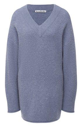 Женский пуловер ACNE STUDIOS голубого цвета, арт. A60178 | Фото 1