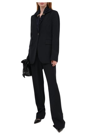 Женский шерстяной жакет LOEWE темно-синего цвета, арт. S540330X83 | Фото 2