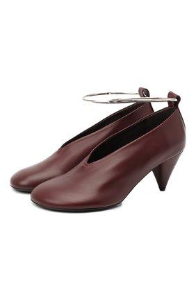 Женская кожаные туфли JIL SANDER бордового цвета, арт. JS35027A-12022 | Фото 1
