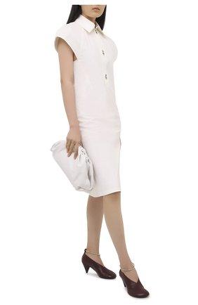 Женская кожаные туфли JIL SANDER бордового цвета, арт. JS35027A-12022 | Фото 2