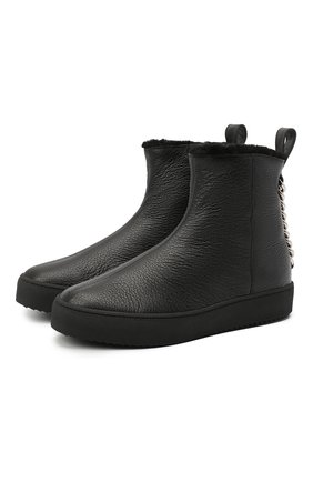 Женские кожаные ботинки GIUSEPPE ZANOTTI DESIGN черного цвета, арт. RW00076/005 | Фото 1