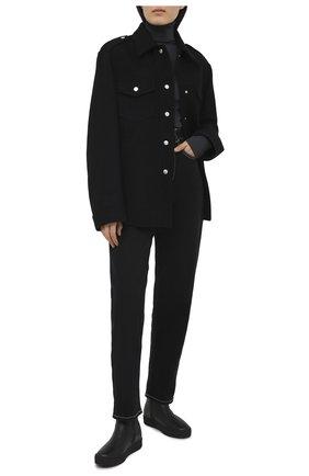 Женские кожаные ботинки GIUSEPPE ZANOTTI DESIGN черного цвета, арт. RW00076/005 | Фото 2