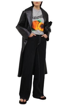 Женская хлопковая футболка CHRISTOPHER KANE серого цвета, арт. PF20 TS521 MEDIUM WEIGHT JERSEY | Фото 2