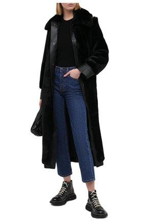 Женская шуба из экомеха STELLA MCCARTNEY черного цвета, арт. 601140/SPB09 | Фото 2