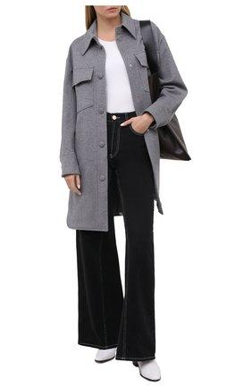 Женское шерстяное пальто STELLA MCCARTNEY серого цвета, арт. 601217/SPB11 | Фото 2