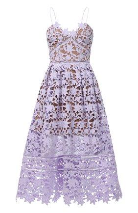 Женское платье SELF-PORTRAIT сиреневого цвета, арт. AW20-128L   Фото 1