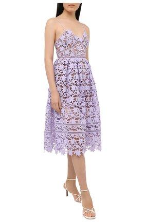 Женское платье SELF-PORTRAIT сиреневого цвета, арт. AW20-128L   Фото 2