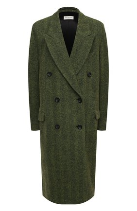 Женское шерстяное пальто DRIES VAN NOTEN зеленого цвета, арт. 202-10225-1260 | Фото 1