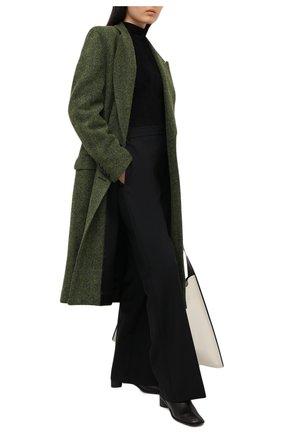 Женское шерстяное пальто DRIES VAN NOTEN зеленого цвета, арт. 202-10225-1260 | Фото 2