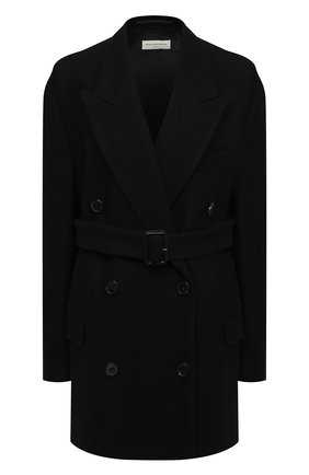 Женское шерстяное пальто DRIES VAN NOTEN черного цвета, арт. 202-10227-1315 | Фото 1