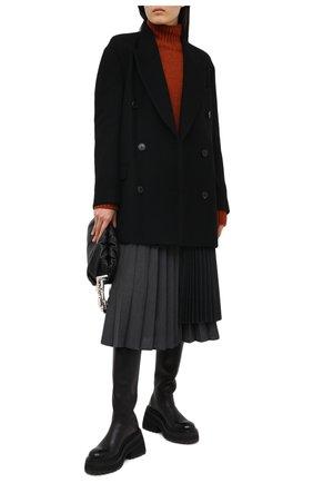 Женское шерстяное пальто DRIES VAN NOTEN черного цвета, арт. 202-10227-1315 | Фото 2