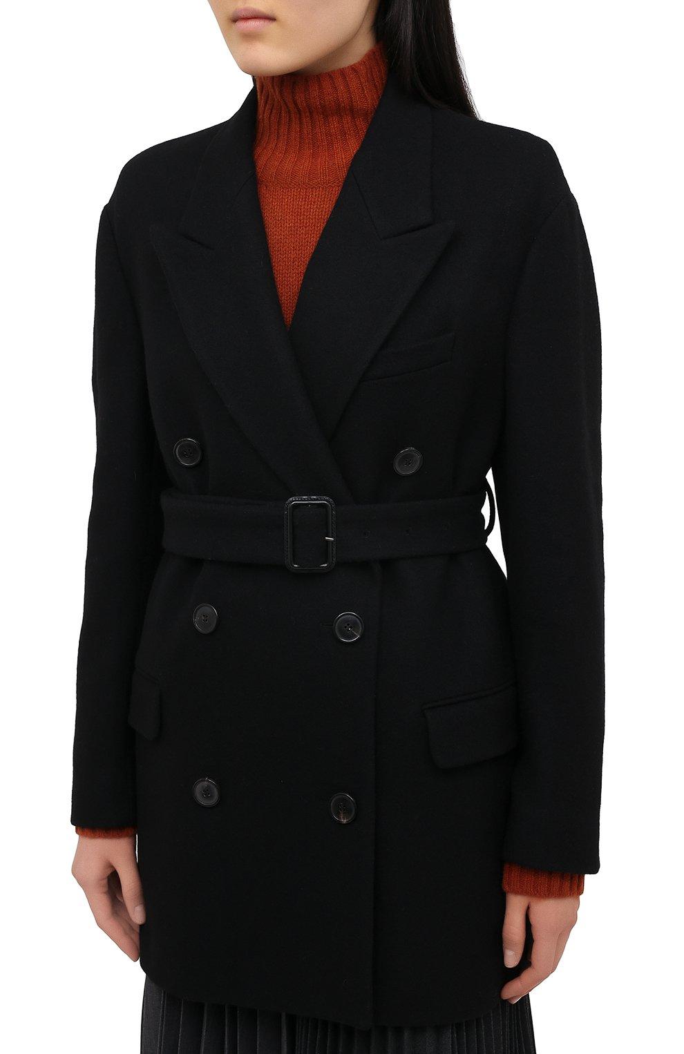 Женское шерстяное пальто DRIES VAN NOTEN черного цвета, арт. 202-10227-1315 | Фото 3