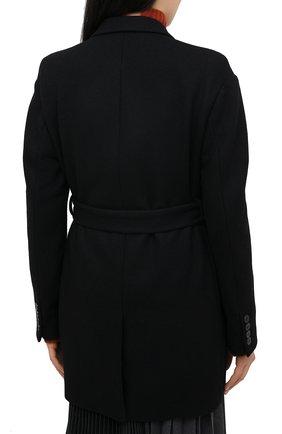 Женское шерстяное пальто DRIES VAN NOTEN черного цвета, арт. 202-10227-1315 | Фото 4