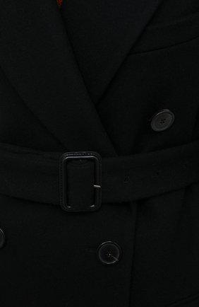 Женское шерстяное пальто DRIES VAN NOTEN черного цвета, арт. 202-10227-1315 | Фото 5