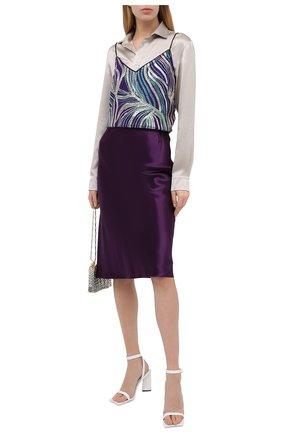Женский топ DRIES VAN NOTEN фиолетового цвета, арт. 202-10734-1421 | Фото 2