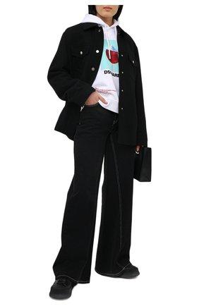 Женская хлопковое худи DSQUARED2 белого цвета, арт. S72GU0300/S25042 | Фото 2