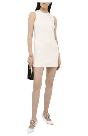 Женское шерстяное платье DSQUARED2 белого цвета, арт. S72CV0155/S53288 | Фото 2