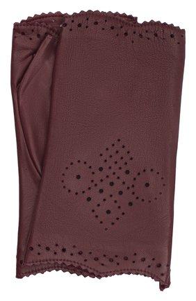 Женские кожаные митенки AGNELLE фиолетового цвета, арт. J0Y_MITAINE/S | Фото 1