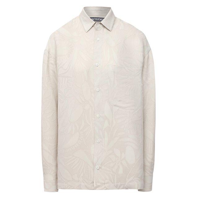 Рубашка из вискозы и шелка Jacquemus