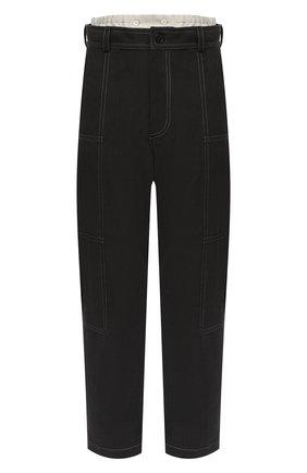 Женские хлопковые брюки JACQUEMUS темно-серого цвета, арт. 203PA08/150930   Фото 1