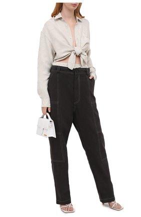 Женские хлопковые брюки JACQUEMUS темно-серого цвета, арт. 203PA08/150930   Фото 2