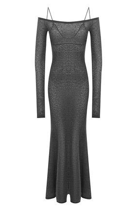 Женское платье JACQUEMUS темно-серого цвета, арт. 203KN07/213950 | Фото 1