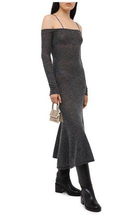 Женское платье JACQUEMUS темно-серого цвета, арт. 203KN07/213950 | Фото 2