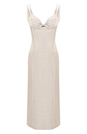 Платье из вискозы и льна | Фото №1