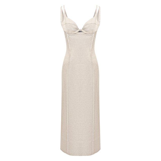 Платье из вискозы и льна Jacquemus