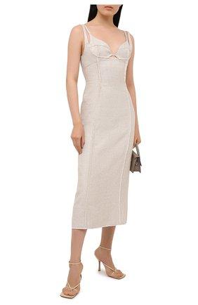 Платье из вискозы и льна | Фото №2