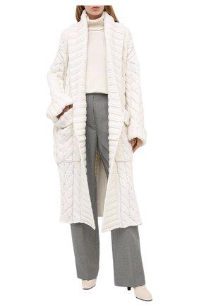 Женский кардиган из шерсти и кашемира DOLCE & GABBANA белого цвета, арт. FXA69T/JBMD7 | Фото 2