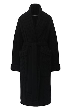 Женский кардиган из шерсти и кашемира DOLCE & GABBANA черного цвета, арт. FXA69T/JBMD7 | Фото 1