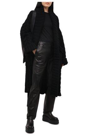 Женский кардиган из шерсти и кашемира DOLCE & GABBANA черного цвета, арт. FXA69T/JBMD7 | Фото 2