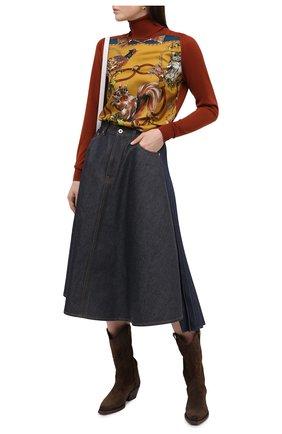 Женская водолазка из кашемира и шелка DOLCE & GABBANA коричневого цвета, арт. FX938T/JAM6A | Фото 2