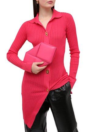 Женский клатч BOTTEGA VENETA розового цвета, арт. 639955/VCQR2 | Фото 2