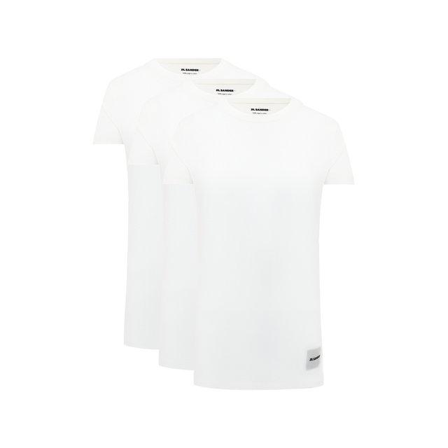 Комплект из трех футболок Jil Sander.