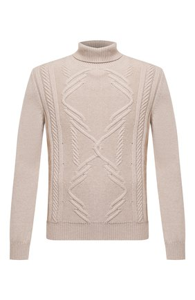 Мужской кашемировый свитер ZILLI бежевого цвета, арт. MBU-NC204-CACL1/ML01 | Фото 1