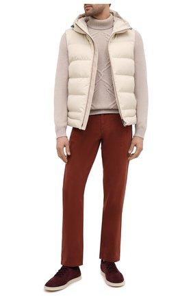 Мужской кашемировый свитер ZILLI бежевого цвета, арт. MBU-NC204-CACL1/ML01 | Фото 2