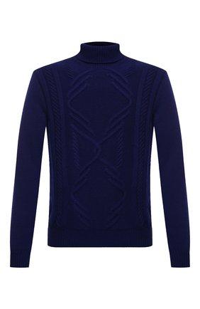 Мужской кашемировый свитер ZILLI синего цвета, арт. MBU-NC204-CACL1/ML01 | Фото 1