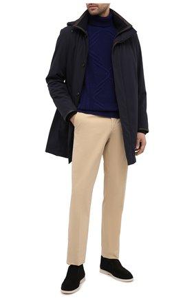 Мужской кашемировый свитер ZILLI синего цвета, арт. MBU-NC204-CACL1/ML01 | Фото 2